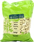 Health Store Organic Whole Cashew Nuts 500 g (Pack of 1)