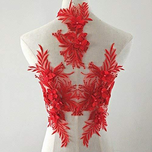 3D Encaje Apliques Flor Parche Ideal Bricolaje