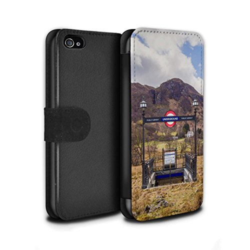 Stuff4 Coque/Etui/Housse Cuir PU Case/Cover pour Apple iPhone 4/4S / Faire Demi-Tour Design / Imaginer Collection Métro