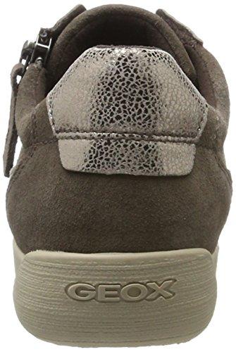 Geox myria A, Scarpe da Ginnastica Basse Donna Marrone (Chestnut/taupe)
