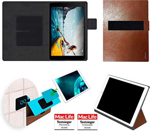 Hülle für Medion Lifetab E10511 Tasche Cover Case Bumper | in Braun Leder | Testsieger