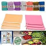Daddy Gtm Multi-Purpose Vegetables Fruits Mesh Fridge Storage Washable Zip Bags (Pack Of 6)