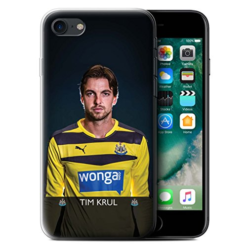 Officiel Newcastle United FC Coque / Etui Gel TPU pour Apple iPhone 7 / Wijnaldum Design / NUFC Joueur Football 15/16 Collection Krul