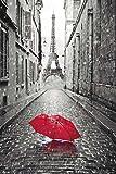 empireposter Paris-Frankreich-Regenschirm-Eiffelturm-Poster