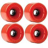 Kryptonics Star Trac 70mm 78a Red Skateboard Wheels (Set of 4) by Kryptonics