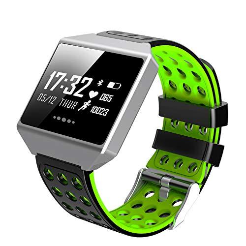 YUNDING Sport Herzfrequenz Armband, Smart Watch, Wasserdichte Uhr, Schritt/Kilometerstand/Kalorienverbrauch/Blutdrucküberwachung/Anruferinnerung, Geschenk