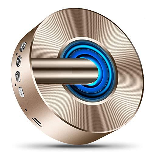 Bluetooth-Lautsprecher, Drahtloser Bluetooth 5.0-Lautsprecher, Tragbarer LED-Blitz, 12-Stunden-Wiedergabezeit, Eingebautes Mikrofon, Geeignet Für Innen-, Außen- Und Campingbereiche (Schwarz),B