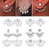 Yadoca 6 Paare Messing und Legierung Lotus Blume Ohrstecker für Frauen Mädchen Chic Fashion Piercing Ohrringe