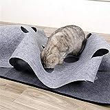 Dubleir Gatto Gioca a Mat, Gioco di attività del Gatto Gatto Sniffing Mat Channel Toy Alleviare Lo Stress Coperta da Allenamento a Tunnel