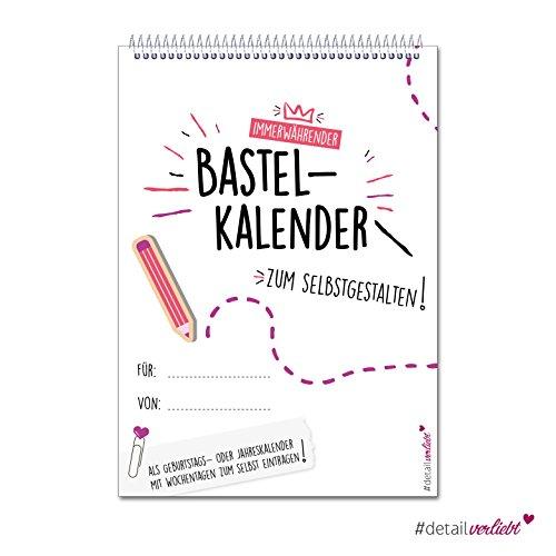Preisvergleich Produktbild DIY Bastel-Kalender zum Selbstgestalten | dv_180 | DIN A4 Format | mit Spiralbindung | Kreativ-Kalender Foto-Kalender Geburtstags-Kalender Termin-Kalender Timer | Jahresunabhängig immerwährend