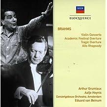 Concerto pour violon, Rhapsodie pour contralto, Ouverture pour une fête académique - Ouverture tragique