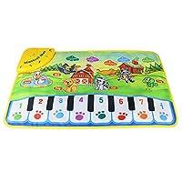 SADA72 Baby Child Piano Music Carpet, Baby Kids Zoo Animal Musical Touch Play Singing Carpet Mat Toy, Piano Musical Floor Mat Music Blanket Carpet Playmat