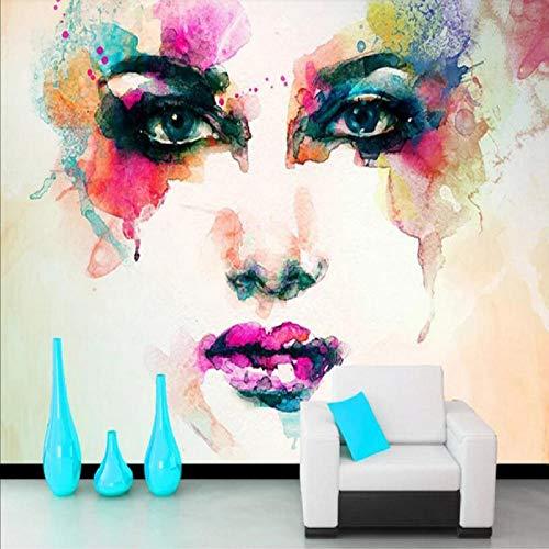 Zxdcd Moderne Abstrakte Kunst Wandbild Tapete 3D Handgemalte Kühle Bunte Abbildung Foto Wandmalerei Wohnzimmer Bettwäsche Room Home Decor-200X140Cm