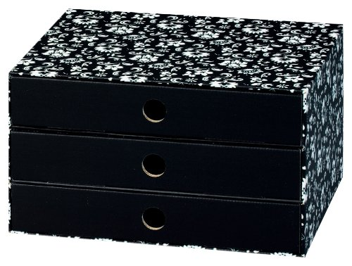 NIPS 110045251 ECO line SILVA Schubladenbox A4 mit 3 Schubladen, B 32,0 x T 24,5 x H 18,0 cm,...