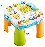 Dominiti Spieltisch XL mit Melodien und Sounds | Tiergeräusche | Spieltelefon