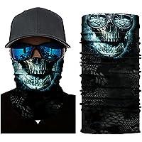 Leezo Gesicht Sonnenmaske Frauen Männer 3D Skeleton Digital Gedruckte Multifunktionale Nahtlose Quick Dry Sonnenschirm Schweißband Hairband Kopftuch Kamera Schutzhülle Outdoor Sportswear Zubehör