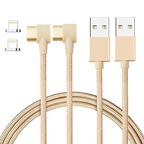First2savvv 2 X Apple Mfi certifié Lightning Câble magnétique pour Apple iPhone X 8 7 iPad 2.4A Charge rapide & Sync Nylon tressé, 3.3ft, Câble de qualité supérieure CT-iphone X-X2-90D-15