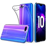 Peakally Coque Huawei Honor 10, Ultra Fine TPU Silicone Transparent Souple Housse Etui Coque pour Huawei Honor 10, Adhérence Parfaite/Anti Rayures/Anti-Scratch-Transparent