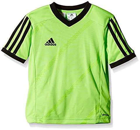 adidas Children's Football Jersey TABELA14 1 / 4–Sleeve Green Macaw/Black Size:128 (EU)