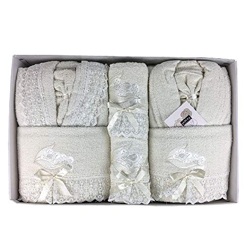 Completo bagno asciugamani accappatoi uomo donna set idea regalo corredo ferlen
