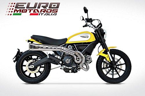 Ducati Scrambler Zard Impianto Scarico Completo Alto Inox - solo 4.9kg - Omologato Catalizzato