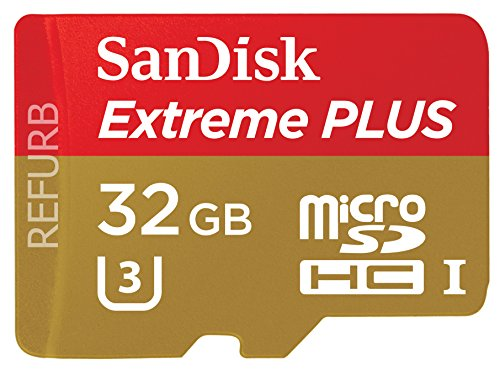 SanDisk Extreme Plus 32GB microSDHC UHS-I/U3Karte mit Adapter (SDSQXSG-032G-GN6MA) [Neueste Version] (Generalüberholt)