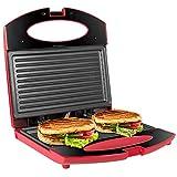 OZAVO Toaster Croque Monsieur 3 en 1 Appareil Panini Grill Antiadhésive 750W...