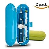 Plastica custodia da viaggio per spazzolino elettrico Oral-B Pro Series, 2confezioni (blu e verde)