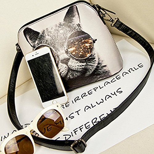 Millya, Borsa a spalla donna nero nero M Bianco (Cat)