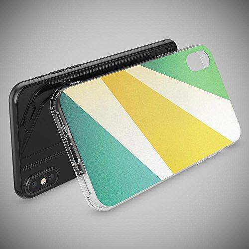 iPhone X Coque Protection de NICA, Housse Motif Silicone Portable Premium Case Cover Transparente, Ultra-Fine Souple Gel Slim Bumper Etui pour Telephone Apple iPhone-X - Transparent Retro