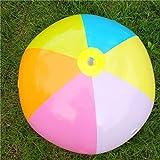 Lorenlli Giocattoli all'aperto gonfiabili della palla di stagno della spiaggia dei bambini dei palloni di acqua variopinti Giocattoli gonfiabili della palla di prato inglese di estate del giocattolo dell'acqua