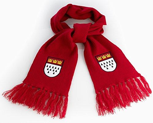 Preisvergleich Produktbild Schal mit Kölner Wappen,  ca. 175x17cm,  rot