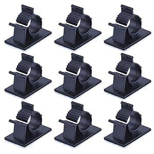 Einstellbar Kabelschellen Verstellbare Klebstoff Nylon Draht Klemmen, Schwarz, 50 Stück
