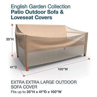 Budge XXL-English-Garden-Outdoor-Sofaabdeckung, 89 x 254 x 104 cm, tweed, hellbraun, P3A02PM1 von Budge Industries, LLC auf Gartenmöbel von Du und Dein Garten