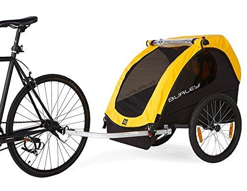Burley Fahrrad Kinder Anhänger BEE Gelb faltbar 2 Sitzer Flex Connector, 946203 - 4