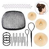 Knotenringe für die Haarpflege