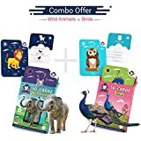 Wild Animals + Birds | Age 3-10 Years | Activity Toys For Kindergartners | Playing Card Game | Augmented And Virtual Reality Based Educational Toy | Combo Box Of 2