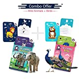 #3: Wild Animals + Birds | Age 3-10 Years | Activity Toys for Kindergartners | Playing Card Game | Augmented and Virtual Reality Based Educational Toy | Combo Box of 2