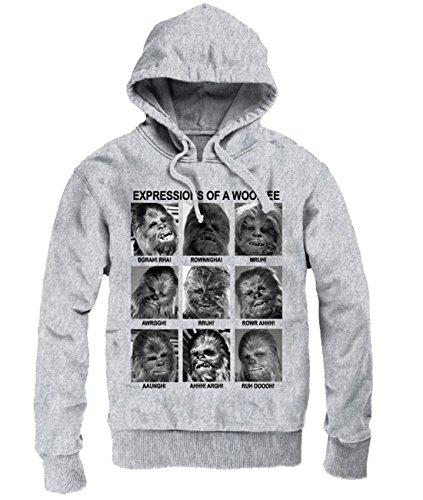uzenpullover - Expressions of A Wookiee Sweatshirt Grau meliert S ()
