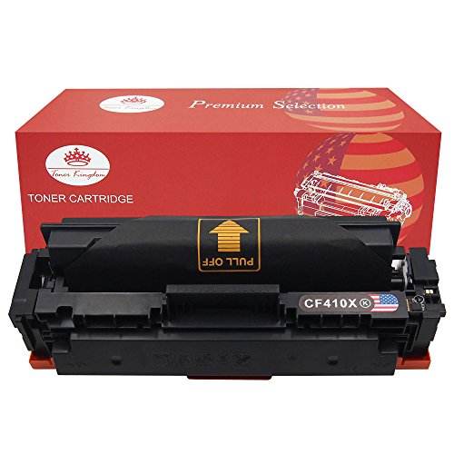 Preisvergleich Produktbild Toner Kingdom 1 Pack Tonerpatrone Kompatibel für HP CF410X 410X Für HP Color LaserJet Pro MFP M477fdn M477fdw M477fnw M452dn M452dw M452nw M377dw schwarz