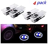 4 Pieces Car Door Lights LED 3D Car Ghost Shadow Light Entry Lighting Welcome Projector Lamp Logo Light