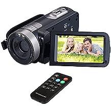 "HuiHeng Full HD Cámara Digital Mini Videocámara Portátil Videocámara Videocámara Digital con Visión Nocturna IR 24.0 Mega píxeles DV 3 ""LCD 16X Zoom"