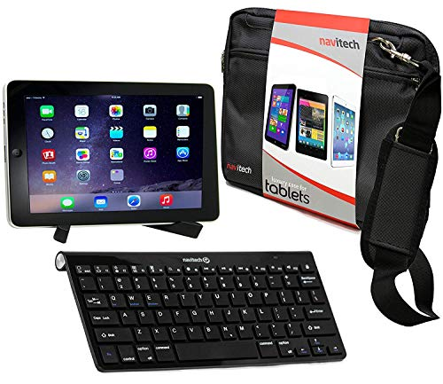 Navitech Converter Pack Including Multi OS Wireless Bluetooth Keyboard/Black Case Bag & Portable Stand Compatible With The Arespark 10.1 Inch Tablet | Argos Bush MyTablet | ARNOVA 8 G2 | G3
