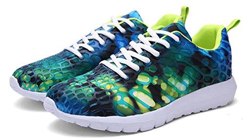 NEWZCERS Unisex hübsche Art und Weise sports Schuhe laufende Turnschuhe Grün