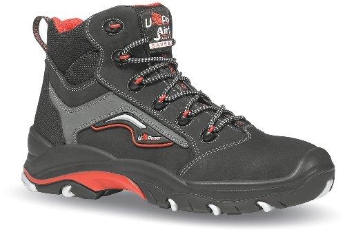 U POWER de sécurité bottes robuste S3ESD Chaussures de sécurité Noir/gris/rouge