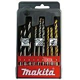 Makita D-08660 - Estuche de brocas para madera, metal y ladrillo