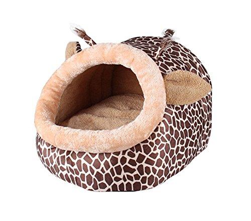 Efanr Cartoon Giraffe Stil Little Pet House Zwinger Qualität Baumwolle Hunde Katzen Bett Kissen Sofa Pet Warm liefert waschbar Doghouse Puppy Kitty Teddy Rest Gaumenspalte Isomatte -