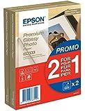 Epson C13S042167 Premium glossy photo paper inkjet 255g/m2 100x150mm 2x40 Blatt Pack BOGOF