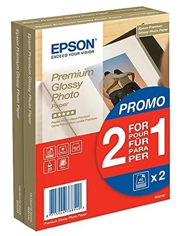Epson Premium glossy photo paper inkjet 255g/m2 100x150mm 2x40 Blatt Pack