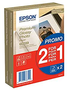 Epson Premium Glossy Photo Paper in BOGOF Promo Pack (2x40 Sheets)